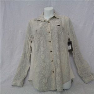 NWT Hurley Wilson Button Up Shirt Snakeskin